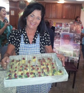 "Vickie Kerr serving her recipe ""Lemon Curd"" at Ronald McDonald House, benefit, Phoenix, Arizona September 20, 2014"